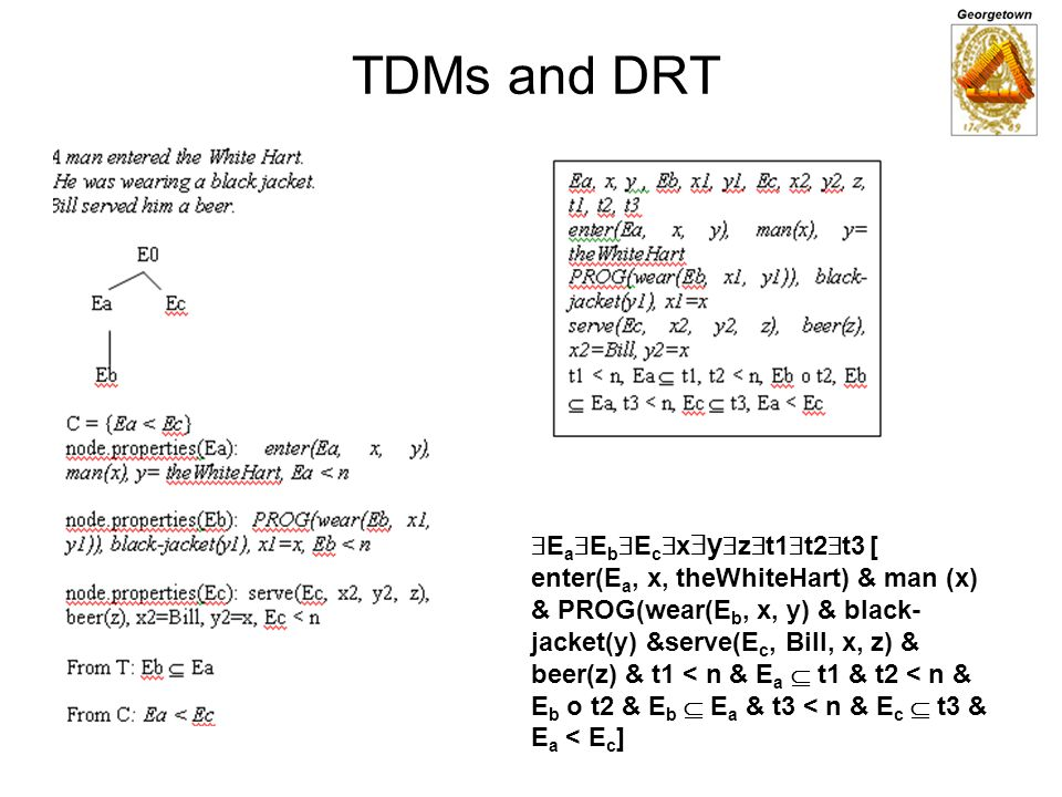 TDMs and DRT EaEbEcxyzt1t2t3 [